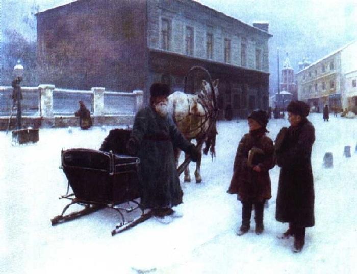 «Шутка» (1892 год). Автор: Николай Касаткин.