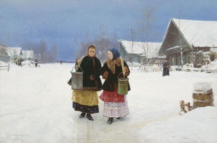 «Соперницы». (1890 год). Автор: Николай Касаткин.