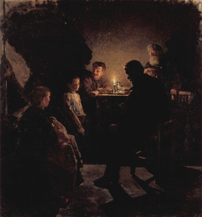 «В рабочей семье». (1890—1900 г.г.) Автор: Николай Касаткин.