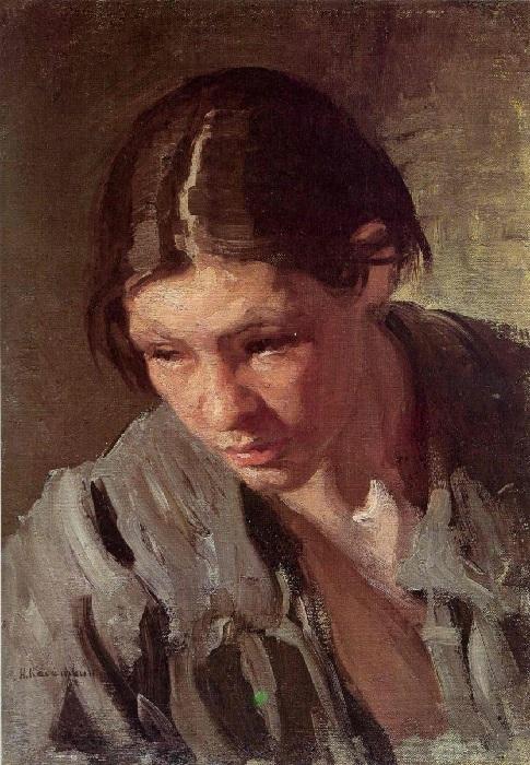 «Торфянка». Этюд.(1901 год). Автор: Николай Касаткин.