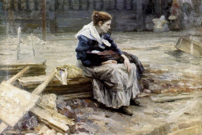 «Жена заводского рабочего». (1901 год). Автор: Николай Касаткин.