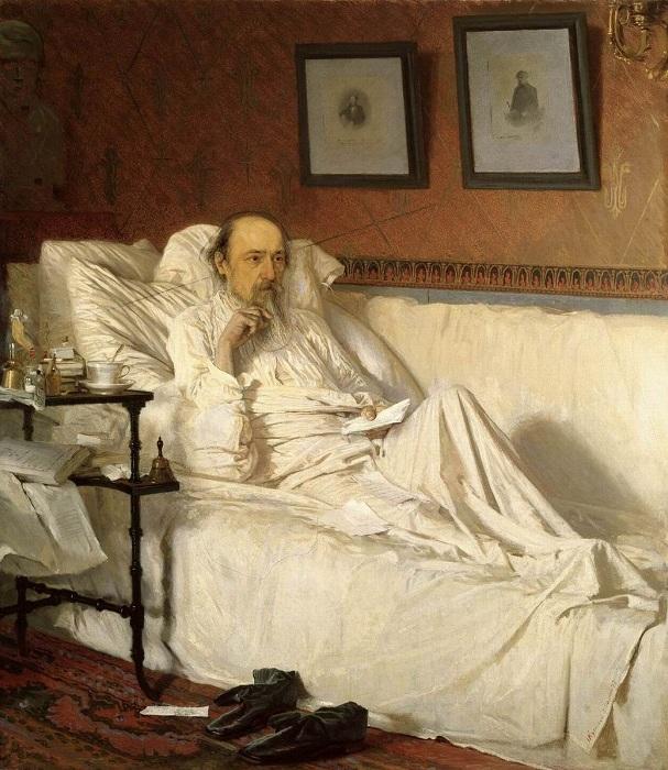 Некрасов во время болезни.