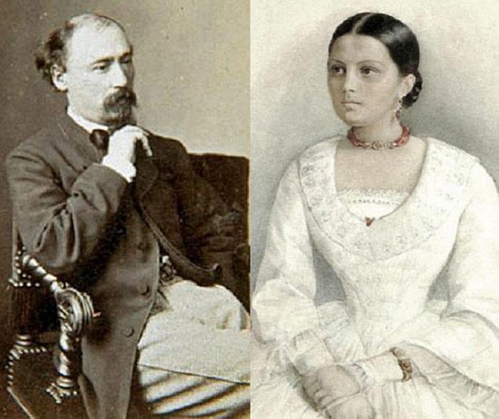 Николай Некрасов и Авдотья Панаева.