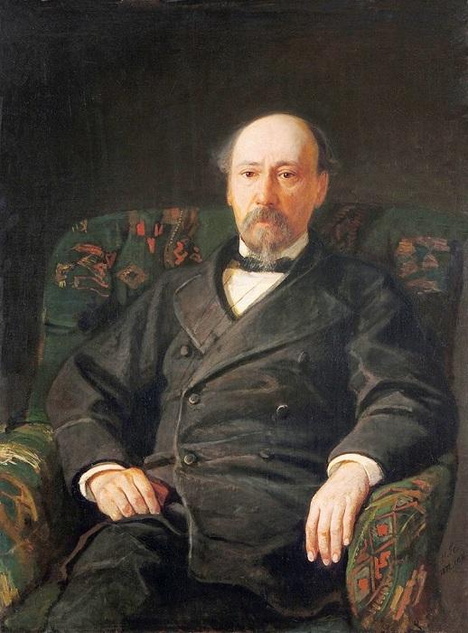 Портрет Николая Алексеевича Некрасова.