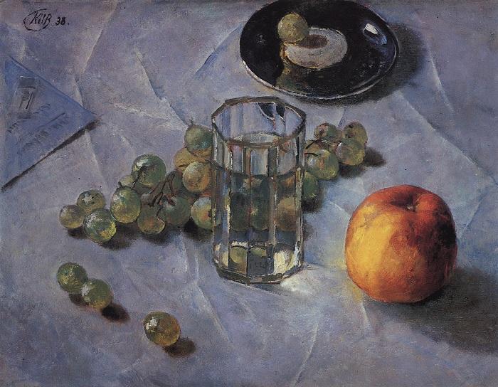Виноград. (1938). (Государственный Русский Музей).  Автор: Кузьма Петров-Водкин.