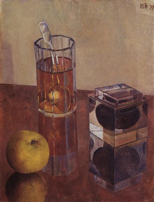 Натюрморт с чернильницей, 1934 (Государственный Русский Музей).  Автор: Кузьма Петров-Водкин.