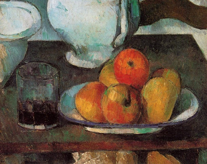 Still Life with Apples and a Glass of Wine. (1877-79). Автор: Поль Сезанн.