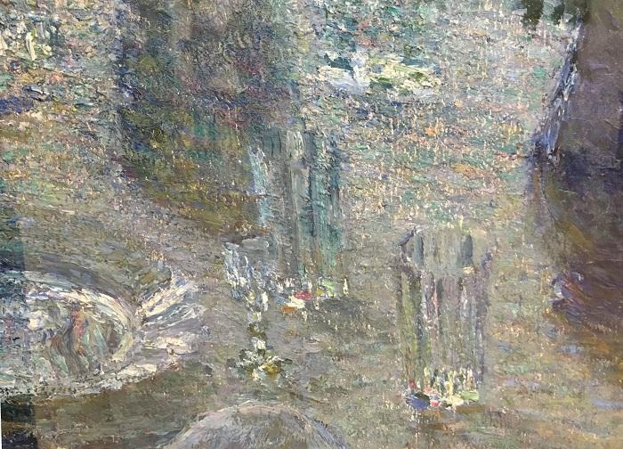 Хризантемы, 1905 (Третьяковская Галерея) фрагмент. Автор: Игорь Грабарь.