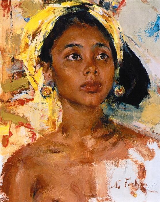 «Девочка с острова Бали». (После 1938). Автор: Николай Фешин.