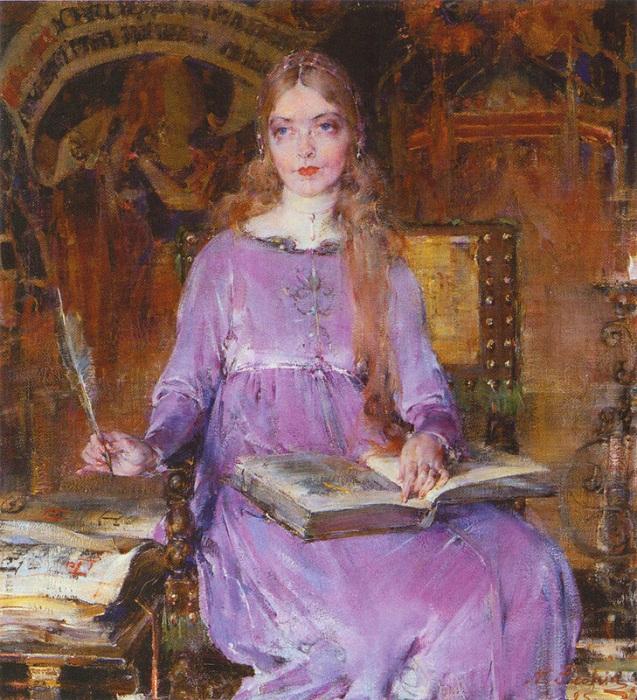 «Портрет Лилиан Гиш в роли Ромолы.» (1925). Автор: Николай Фешин.