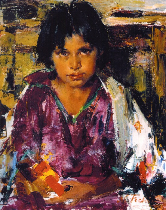 «Дитя Таоса» .(1927—1933). Автор: Николай Фешин.