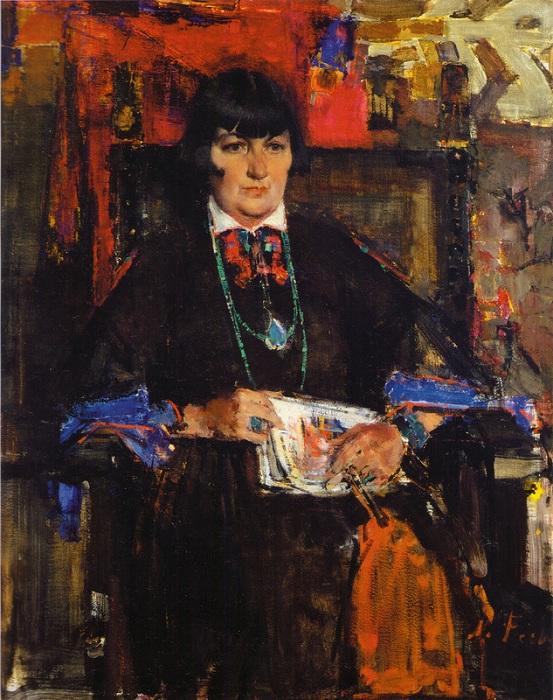 «Портрет Мэйбл Додж Люхан.» (1927-1933). Автор: Николай Фешин.