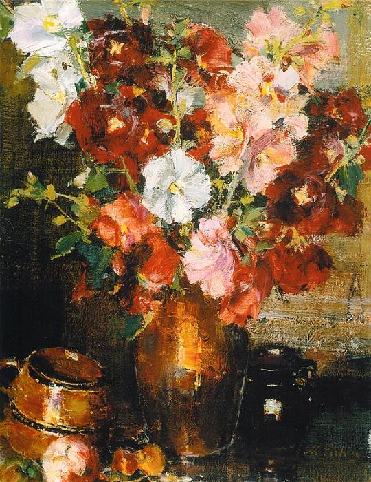 «Мальвы». (1934—1955). Автор: Николай Фешин.