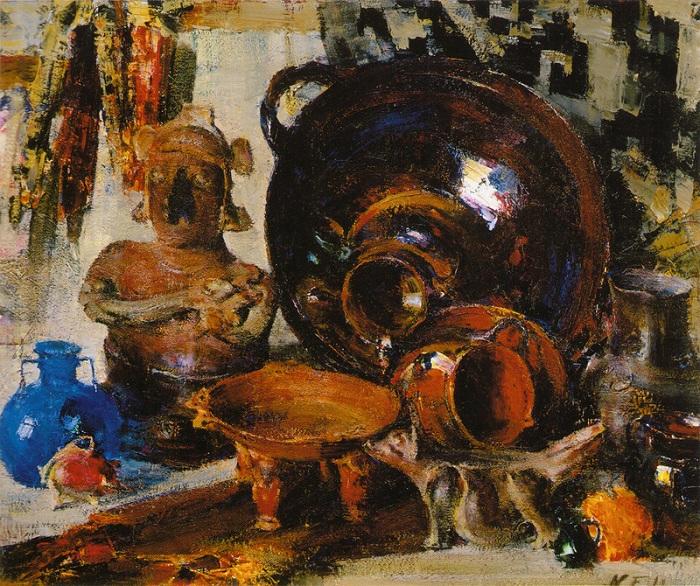 «Натюрморт». (1934—1955). Автор: Николай Фешин.