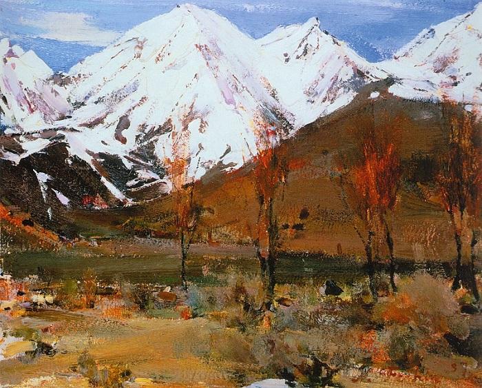 «Вершины Тручас». (1927—1933).Автор: Николай Фешин.