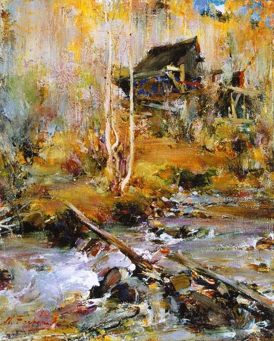 «Пейзаж с ручьем» (1927—1933)Автор: Николай Фешин.
