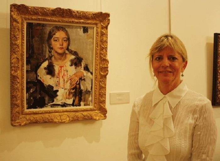 Внучка художника - Никоэла Доннер. (Девочка на портрете - ее мать Ия Фешина-Бренхам.)