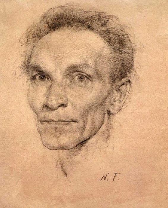 «Автопортрет». Графический рисунок. Автор: Николай Фешин.