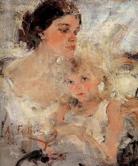 «Александра и Ия». Автор: Николай Фешин.