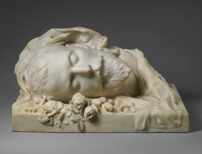 Сара Бернар «Погребальный портрет Жака Дамала». (1889 год).