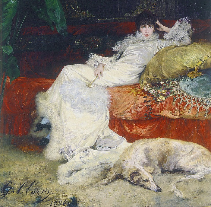 Портрет Сары Бернар. (1876). Автор: Жорж Кларен.