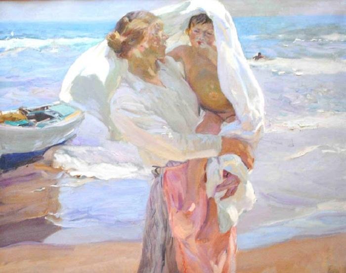 «После купания». Автор: Хоакин Соролья-и-Бастида.