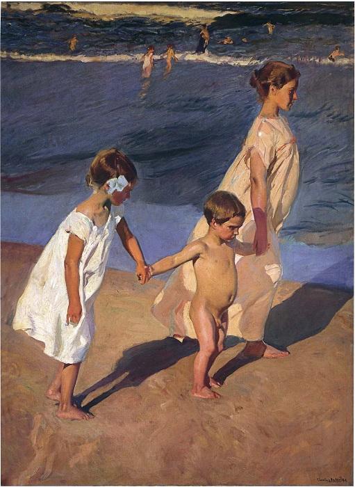 «Дети у моря». Автор: Хоакин Соролья-и-Бастида.