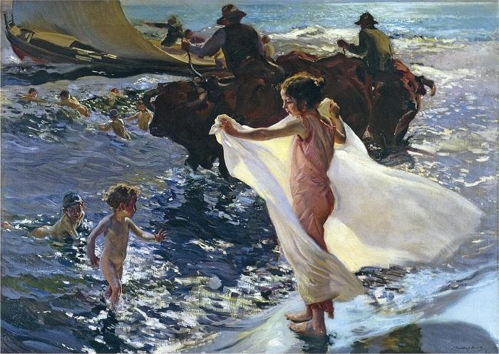 «Час купания». Автор: Хоакин Соролья-и-Бастида.