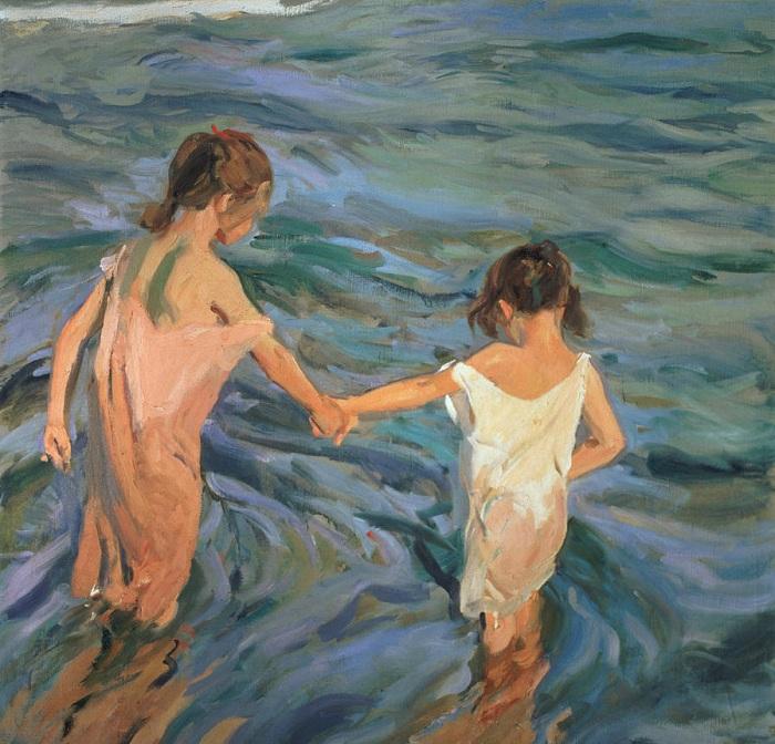 «Дети в море». (1909 год). Автор: Хоакин Соролья-и-Бастида.