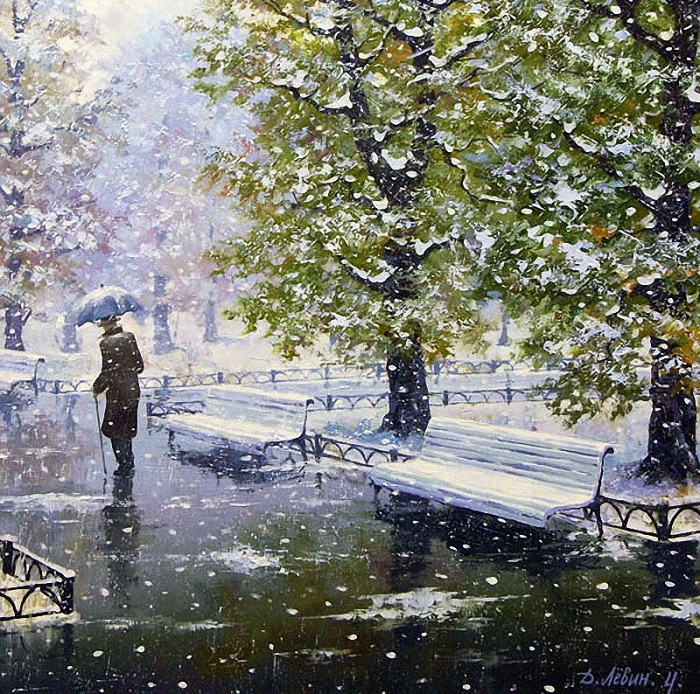 «Первый снег». Автор: Дмитрий Левин.