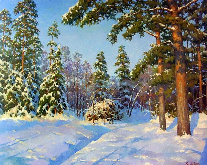 «В морозной тишине». Автор: Дмитрий Левин.