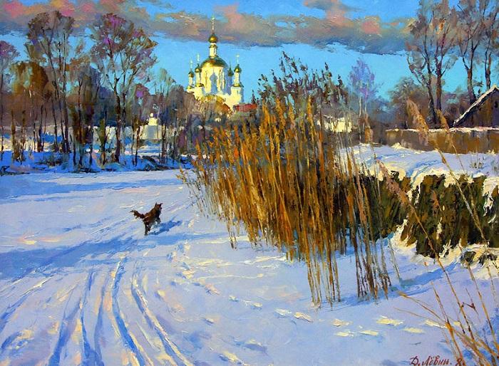 «Тихий вечер на Цне». Автор: Дмитрий Левин.