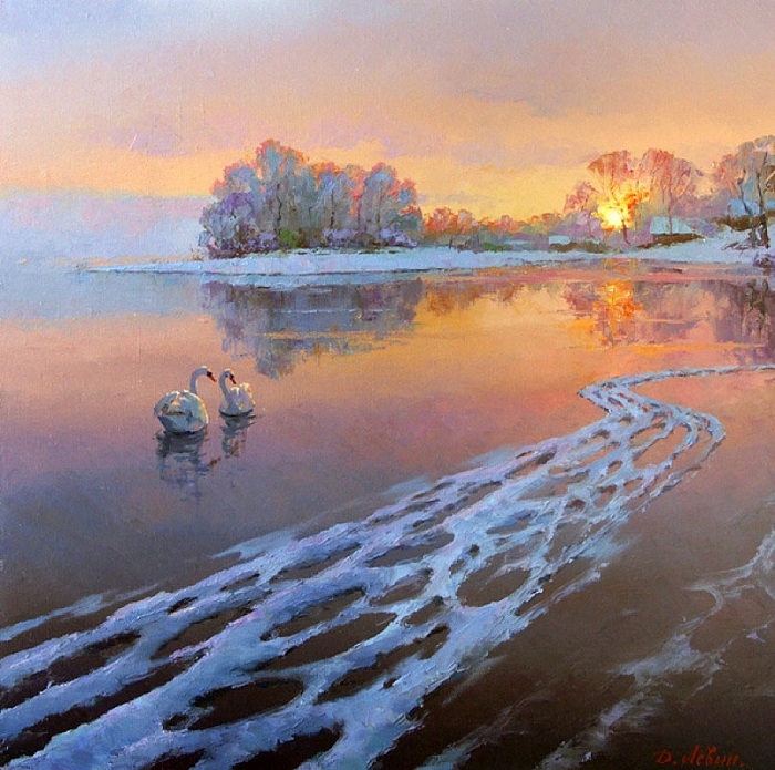 «На закате». Автор: Дмитрий Левин.