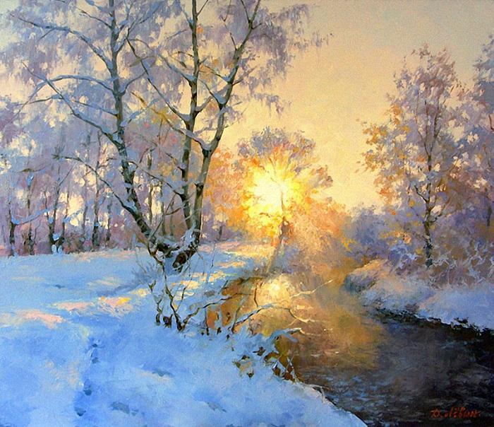 «Зимняя речка». Автор: Дмитрий Левин.