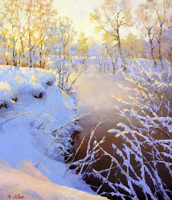 «На зимней речке. Пехорка». Автор: Дмитрий Левин.