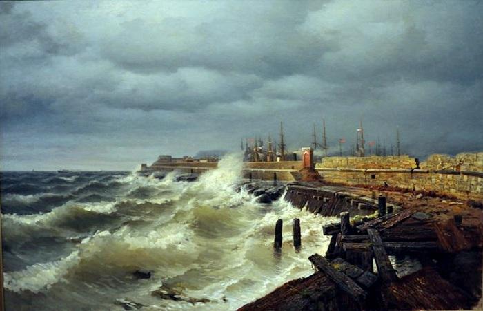 «Одесский волнолом».<br>(1885).Эстонский художественный музей. Автор: Р.Г.Судковский.