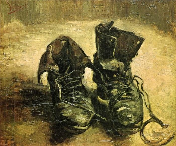 «Башмаки». (1886 г.). Музей Винсента ван Гога. Амстердам. Автор: Винсент Ван Гог. (Полотно продано на аукционе «Сотбис» в 2006 году за $8,976,000