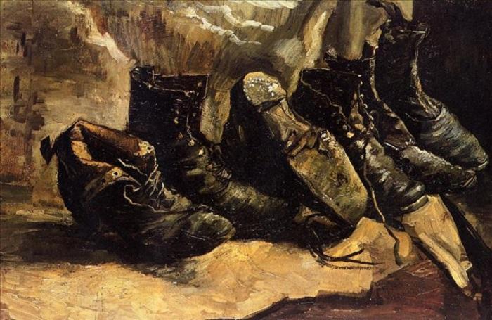 «Три пары ботинок». Кембридж. Массачусетс. Музей искусств. Автор: Винсент Ван Гог.
