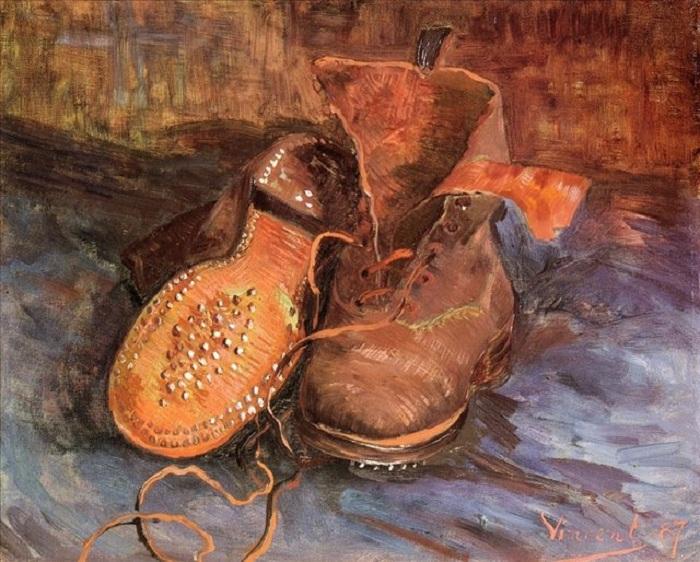 «Пара ботинок». Париж. (1887г.). Холст, масло. (34Ñ41) Балтиморский музей изобразиÑ'ÐµÐ»ÑŒÐ½Ñ‹Ñ Ð¸ÑÐºÑƒÑÑÑ'в. Автор: Винсент Ван Гог.