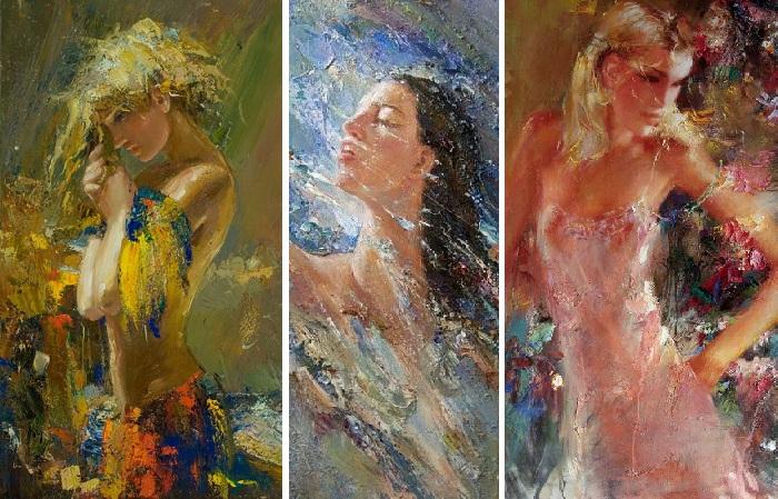«Женщин много не бывает»: Экспрессивные портреты Мстислава Павлова.