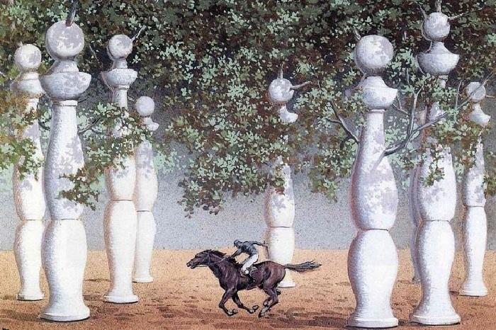 «Потерянный жокей». Автор: Рене Магритт.