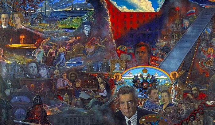 Полотно «Моя жизнь» (1994). Автор: И.С.Глазунов