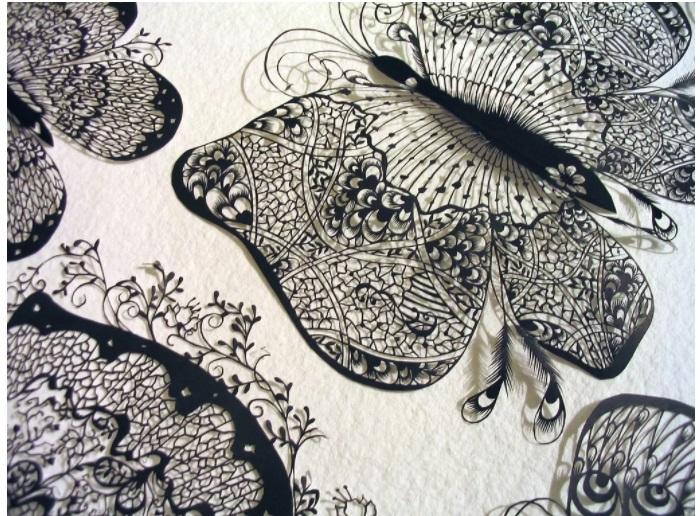 Бумажные кружева от Хины Аоямы в жанре paper art.
