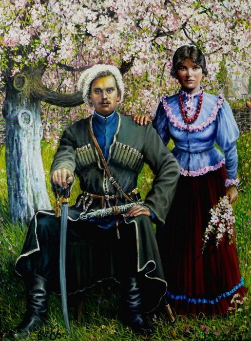 «Портрет атамана Нугко с женой». Автор: Андрей Лях.
