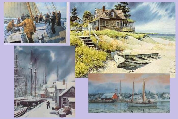 Морские и речные пейзажи Charlesа L.Petersonа.