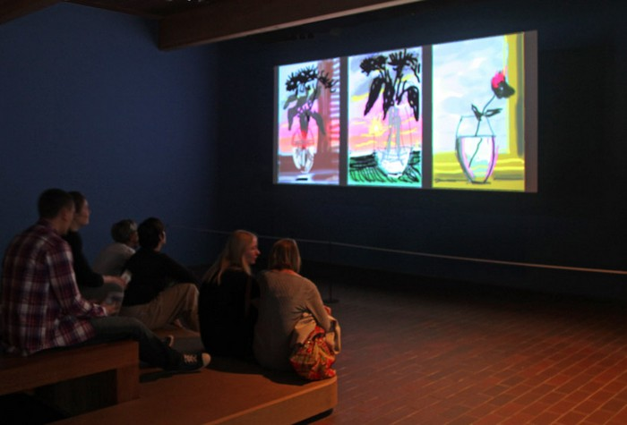 Рисунки на iPad от David Hockney.