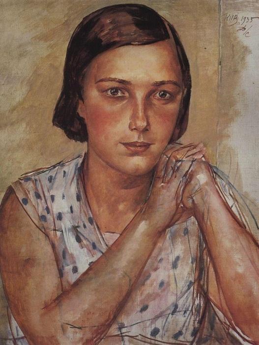 Портрет дочери художника. (1935 год).