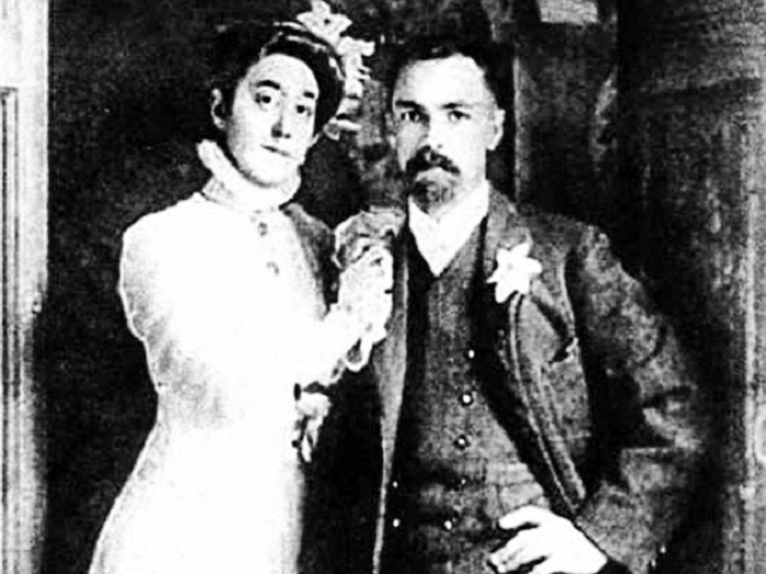 Кузьма Петров-Водкин с женой Марией Федоровной.