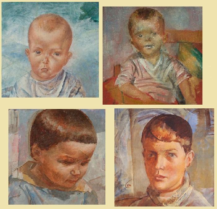 Портреты дочери Елены.
