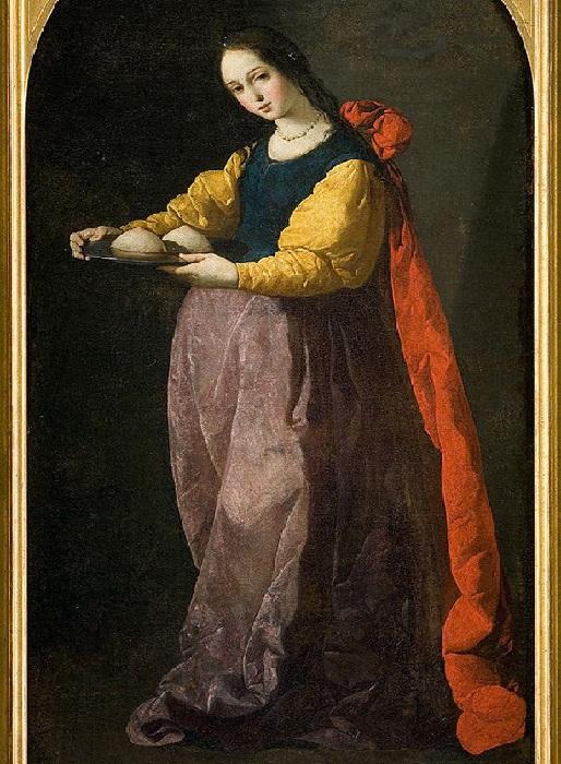 Святая Агата, 1630-1633. Музей Фабр, Монпелье.